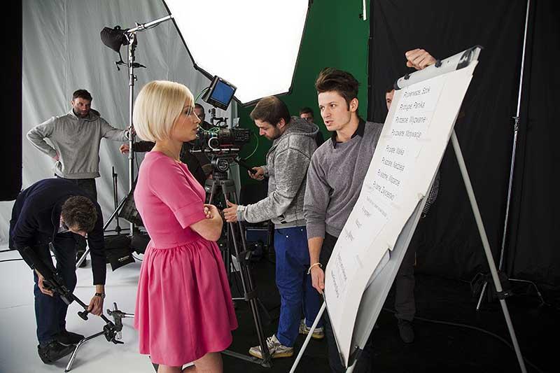 Film Promocyjny, plan filmowy podczas tworzenia filmu promocyjnego